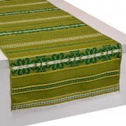 Krinos Jacquard Table Runner, Grass Green (L)