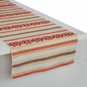 Krinos Jacquard Table Runner, Off-White & Multi (L)