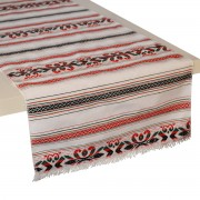 Krinos Jacquard Table Runner, Crisp White (S)