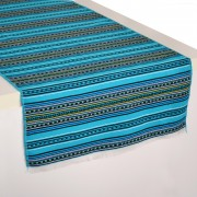 Kythnos Jacquard Table Runner, Aegean Blue (S)