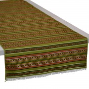 Kythnos Jacquard Table Runner, Grass Green (S)