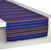 Kythnos Jacquard Table Runner, Indigo (L)