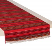 Kythnos Jacquard Table Runner, Red (L)