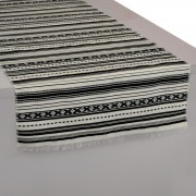 Paros Black & White Table Runner (L)