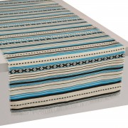 Paros Jacquard Table Runner, Light Blue (L)