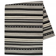 Paros Jacquard Blanket, Vertical Stripes, Black & White