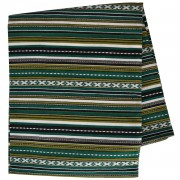 Paros Jacquard Blanket, Vertical Stripes, Green