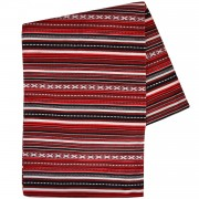 Paros Jacquard Blanket, Vertical Stripes, Red Wine