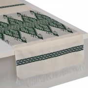 Praesos Jacquard Table Runner, Green (L)