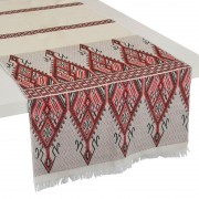 Praesos Cotton Table Runner, Red (M)