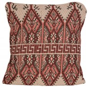 Praesos Jacquard Cushion Cover, Cherry Red