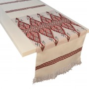 Praesos Jacquard Table Runner, Red (L)