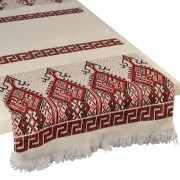 Praesos Jacquard Table Runner, Red (S)