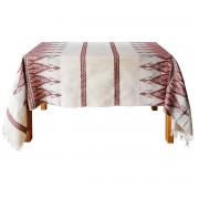 Praesos Jacquard Tablecloth, Red