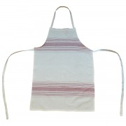 Irregular Striped Apron, Cherry Red