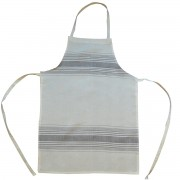 Irregular Striped Apron, Taupe