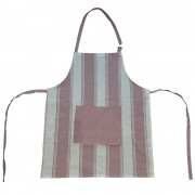 Striped Apron w/ Pocket, Cherry Red