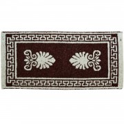 Acroceramo Burgundy Red Rug, Two-Sided, 65x135cm