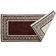 Braid Burgundy Red Rug, Two-Sided , 65X135cm