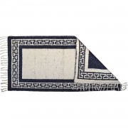 Greek Key Midnight Blue Rug, Two-Sided, 65x110cm