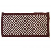 Island Burgundy Red Rug, Two-Sided, 65x135cm