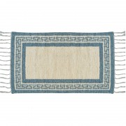 Greek Key Two-Sided Rug, Aegean Blue, 65x110cm