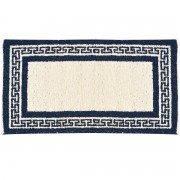 Greek Key Greek Blue Rug, Two-Sided, 65x110cm