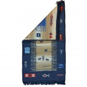 Cri-Cri Two-sided Rug, Greek Blue, 70x120cm