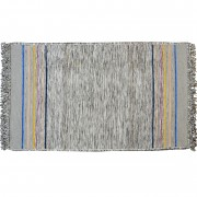 Irregular End Striped Rug, Pebbles Grey, 100x150cm