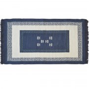 Meander Greek Blue Rug, Two-Sided, 100x150cm