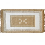 Meander Cream Rug, Two-Sided, 70x120cm