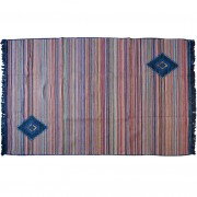 Striped Rug, Blue/Multi, 140x210cm