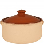 Terracotta Cooking Pot, Sand-Coated