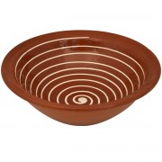 Spiral, Pottery Bowl Country Style, d:23cm
