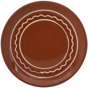 Traditional Design Red Clay Plate, 24cm
