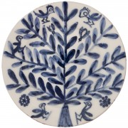 Tree with Birds and Bees, Hand Painted Plate, d:23cm
