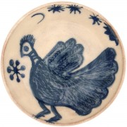 Mediterranean Bird, Ceramic Pottery Bowl, d:15.5cm