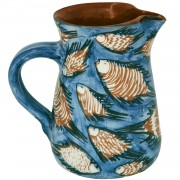 School of Fish, Handmade Pottery Jug, 1.3lt