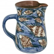 School of Fish II, Handmade Pottery Jug, 1.3lt