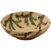 Hand-Engraved Pomegranate, Decorative Pottery Bowl, d:20.5cm