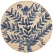 Bird on Flower, Decorative Table Bowl, d:23cm