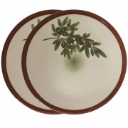 S/2 Serving Platters, Olives, (M) d:26.5cm