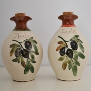 Set of Hand-painted Oil & Vinegar Cruet