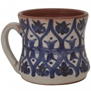 Hourglass, Pottery Coffee Mug
