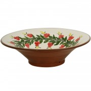 Handpainted Pomegranate, Ceramic Serving Bowl, d:27cm