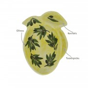 Olives Decorative Dish, Yellow Ochre