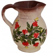 Pomegranate, Hand-Painted Pottery Jug, 1 lt