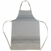 Irregular Striped Apron, Sage