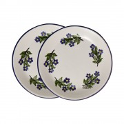 S/2 Afternoon Tea Plates, Flowers Forget-Me-Not, d:19cm