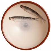 Hand Painted Sardines, Centerpiece Bowl, d:22.5cm